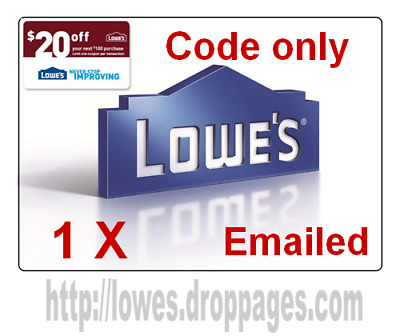 LOWES 20 OFF 100 PROMOTION DISCOUNT-1Coupon Online Code Only fast delivery