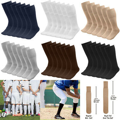 618 Pairs Mens Athletic Sports Tube Socks Over the Calf  25 Length Size 10-15