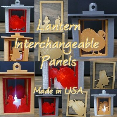 SET OF 4 THANKSGIVING HOLIDAY SWAPPABLE INTERCHANGEABLE PANELS 3D PRINTED PR137
