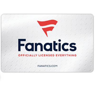 50 Fanatics Gift Card for 40 –Get NFL NHL NBA MLB Official Gear- Emailed
