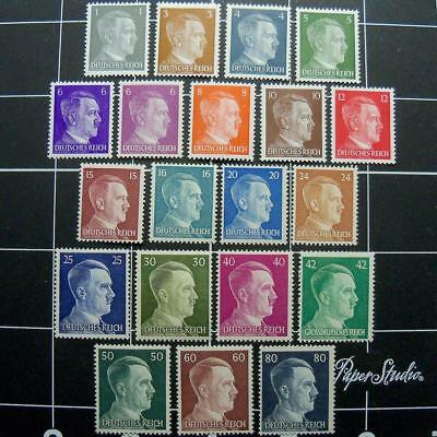 German WW2 Adolf Hitler postage stamps-set of 20-MNH1941-19443rd Reich Germany