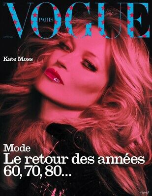 Paris Vogue Magazine KATE MOSS Cover AUGUST 2019 Brand New-Ships Today