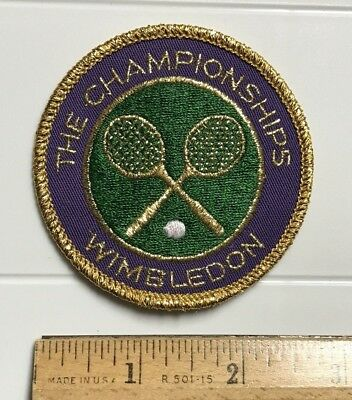 The Championships Wimbledon Tennis Tournament Round Souvenir Embroidered Patch