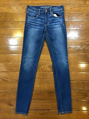 Womens Size 6 Long American Eagle Outfitters Jegging Jeans Medium Wash