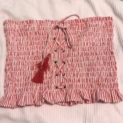 American Eagle Outfitters Smocked Tube Top XS