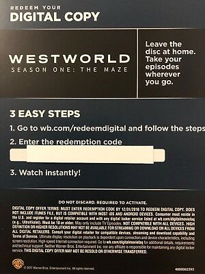 Westworld Season One The Maze Digital HD Code Only