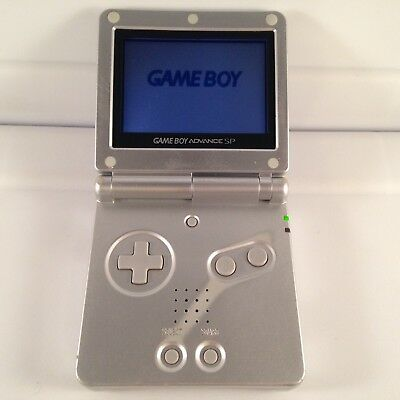 GAMEBOY ADVANCE SP Nintendo Game Boy GBA AGS-001 Console System SILVER Works