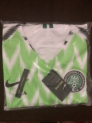 Authentic Limited Ed- Nike 2018 World Cup Nigeria Stadium Home Jersey- Size L