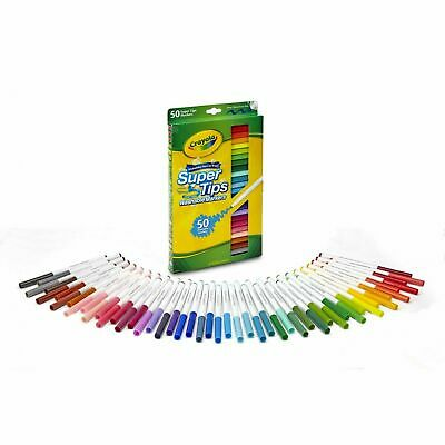 Crayola Washable Super Tips Markers 50 Colors