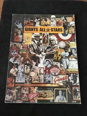 1984 Major Leauge Baseball All Star game program San Francisco Giants