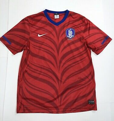 Nike Dri-Fit 2010 FIFA World Cup South Korea Home Soccer Jersey Large Red