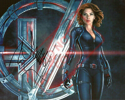 8-5x11 Autographed Signed Reprint RP Photo Scarlett Johansson Black Widow