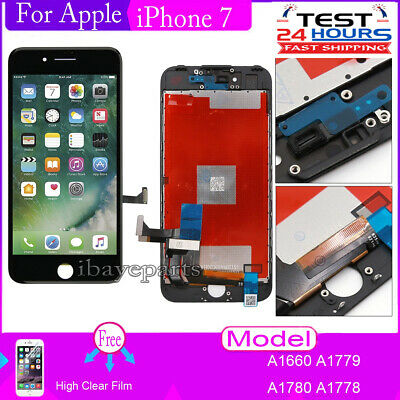 For iPhone 7 4-7 Touch Digitizer Screen LCD Display Assembly Replacement Black