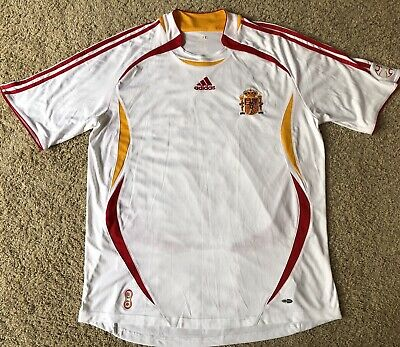 Adidas ClimaCool Spain Espana World Cup Soccer Jersey Futbol White Size XL