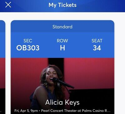 Two2 Alicia Keys Concert Tickets Pearl Concert Theater The Palms Las Vegas 45