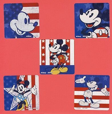 15 Mickey Mouse Fourth of July - Large Stickers - Patriotic - Minnie Mouse