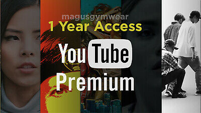 300- SOLD YouTube Premium Red  12 MONTHS ACCESS  w FREE YouTube Music