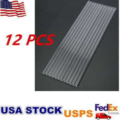 12pcs 12  Glass Pyrex Blowing Tubes 8mm OD 1-2mm Thick Thermal Shock Resistant