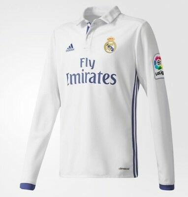 ADIDAS REAL MADRID HOME JERSEY LONG SLEEVE YOUTH SIZE M NEW NWT