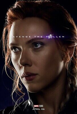 Avengers Endgame Movie Poster 24x36 - Black Widow Scarlett Johansson v5