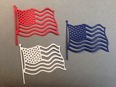 12 Military Patriotic Flag Die CutsScrapbookcardspartyConfetti 4th Of July
