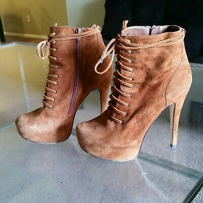 Aldo Ankle Booties Suede 7-5