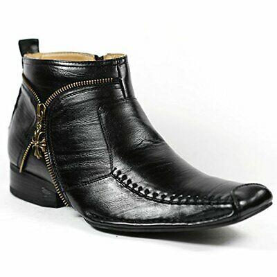Mens Ferro Aldo Boots Dress Ankle Boots W Leather Lining and Full Side Zipper