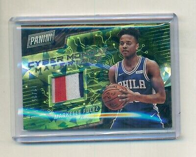 2017 Panini Cyber Monday Markelle Fultz 76ers Patch Cracked Ice 1225 WI