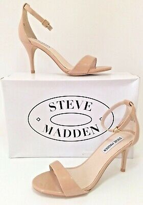 STEVE MADDEN Silly Blush Patent Leather Sexy Ankle Strap Women Sandals Sz 6-5