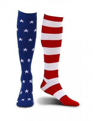 American Flag Knee-High Socks Mismatched 4th of July Patriotic Memorial Day