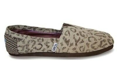Toms Snow Leopard Classic Slip On Loafers Shoes Tan Size 5-5 New NWT