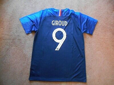 Olivier Giroud 9 France World Cup Blue Button Soccer Jersey Men Large TAGS NEW