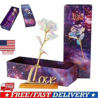 US Mothers Day Lovely Galaxy Rose Love Base - Best Gift for The Person You Love