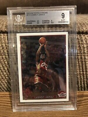 2003-04 Topps Chrome Lebron James Rookie rc Bgs 9 With Two 9-5 Subs