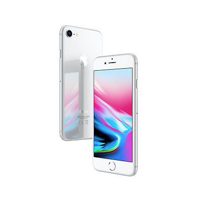Apple iPhone 8 A1863 64GB Factory Unlocked-Silver-Excellent
