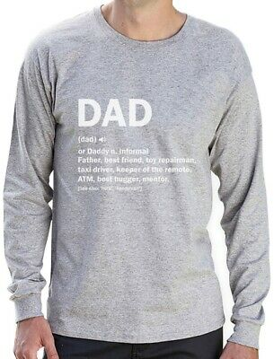 Dad Definition Funny Fathers Day Gift Long Sleeve T-Shirt Father Clothing