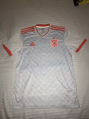 Spain Away Adidas Soccer Jersey World Cup 2018 Size Small