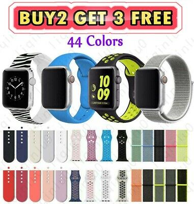 Silicone Nylon Sport Band Strap for Apple Watch Series 4 3 2 1 3840mm 4244mm