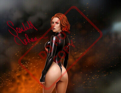 8-5x11 Autographed Signed Reprint RP Photo Scarlett Johansson Sketch Sexy