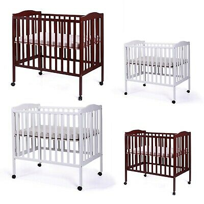 Pine Wood Baby Toddler Bed Convertible Nursery Infant Newborn Foldable