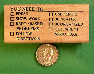 You Need To - Teachers MathScience Wood Mouonted Rubber Stamp