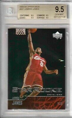 2003-04 Upper Deck 301 LeBron James RC BGS 9-5 Quad 9-5's