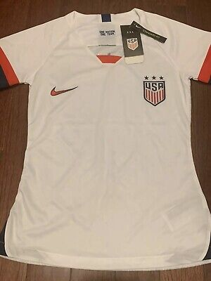 USA 2019 WORLD CUP WOMENS YOUTH HOME NIKE WHITE RED WOMENS SOCCER BLANK JERSEY