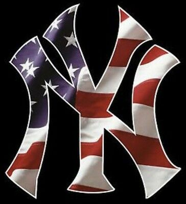 3 New York Yankees Window Vinyl Decal Car Bumper STICKERS 3x2-5 USA Full Color