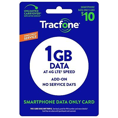 TracFone 1GB Data Add On for SmartPhone - Direct Load