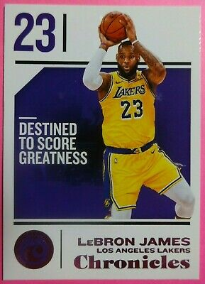 2018-19 Panini Chronicles Pink Parallel LeBron James 68 LOS ANGELES LAKERS
