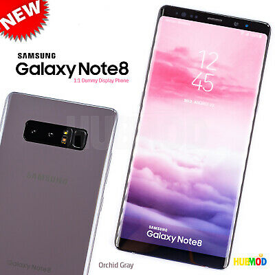 Orchid Gray SAMSUNG GALAXY NOTE 8 Dummy Toy Cell Phone 11 Non-Working Fake NEW