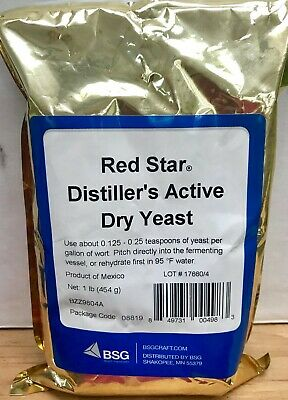 AUTHENTIC RED STAR  BSG Distillers Yeast  DADY  1 LB Pack  FRESH