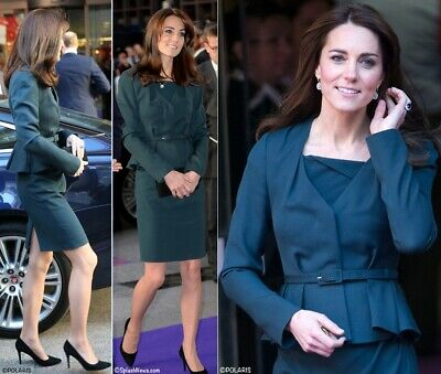 Lk Bennett Navy Blue Dr- Davina Sheath Dress ASO Kate Middleton UK 8 US 4 EUC