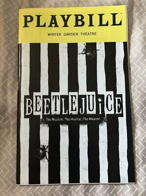 Beetlejuice Playbill July 2019 OBC Alex Brightman Kerry Butler Rob McClure